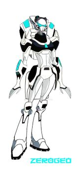 Transformers Animated Concept: Fembot Autotrooper by ZER0GEO