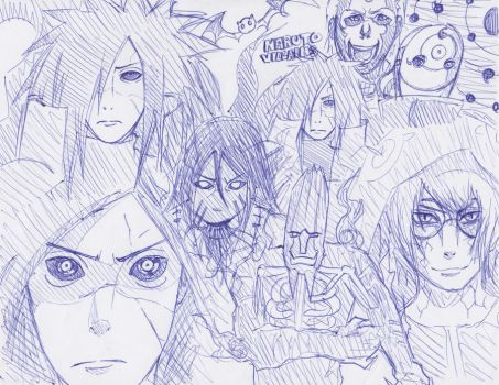 Naruto villain sketch by JackieWest