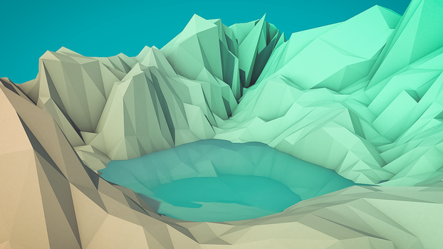 Low-Poly Pond by Solar11pro
