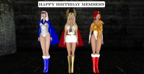 Birthday card for member9 by IvonneA