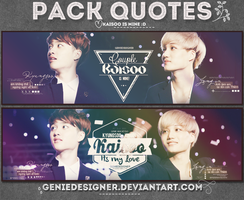 20140709. Pack Quotes Kaisoo's Mine! by GenieDyo