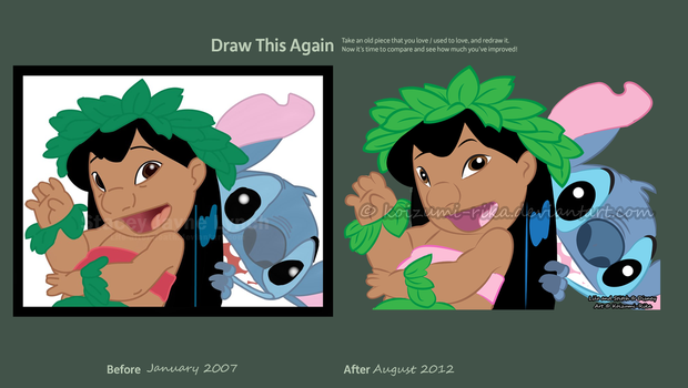 Lilo and stitch old and new by Koizumi-Rika