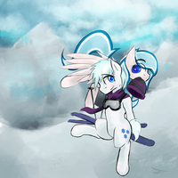 Snowy Ponies and Odd Backgrounds by PacoFreeman