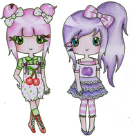 Cherry Vine and Plum Pip by Bee-chii