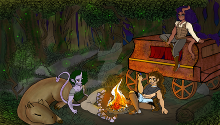 Dungeons and Camping by VelvetyVelvetRabbit