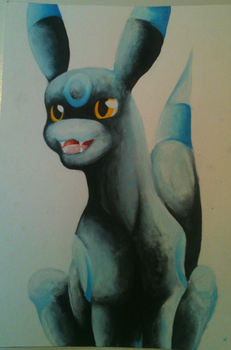 Shiney Umbreon Speed Painting video by Craqui