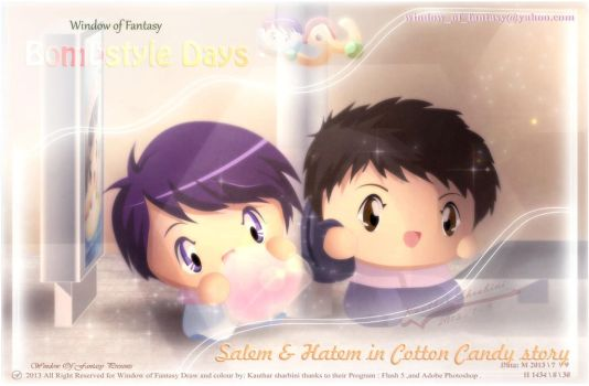 [Animation]Cotton candy story with Salem and Hatem by Kauthar-Sharbini