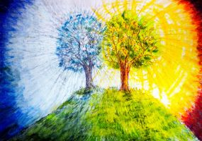 The Two Trees by montmartre96