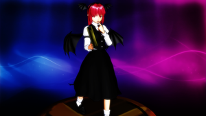 Smash Bros Trophy Koakuma 2560x1440 by headstert