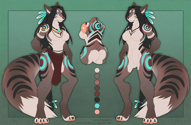 Isame | Reference sheet 2018 | Anthro + Feral by Wolf-SiSi