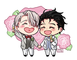 Chibi Victuuri by snarky-gourmet