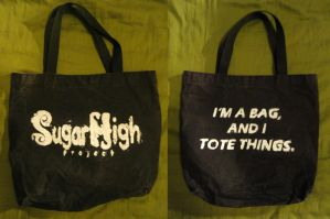 Sugar High Project tote bag by TheSpazOutLoud
