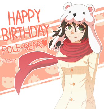 Happy Birthday Pole-Bear! by Wolf-con-f