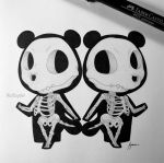 Skeletal Timmy and Tommy by WolfJayden