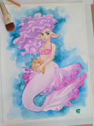 Cotton Candy Mermaid by Brierose
