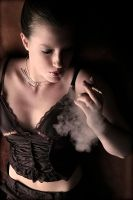 Lina smoking by SylvieHughiBertha
