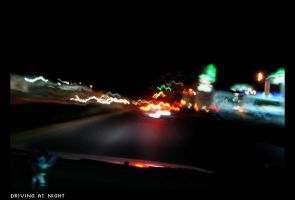 Driving at night by levhita