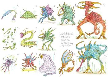 Extraterrestrial Food Chain by MickMcDee