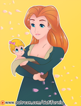 Commission: a Mother with Her newborn Baby Girl by Catifornia