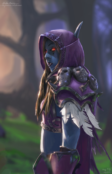 Cosplay Illustration: Sylvanas Windrunner by LostDecay