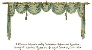 1819 Swag Curtain - Ocean by EveyD