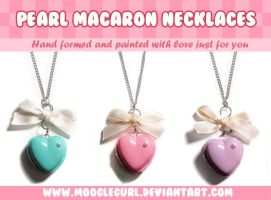 Pearl Macaron Necklaces by MoogleGurl