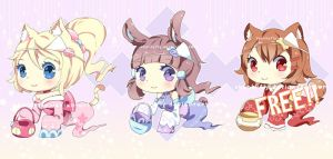[CLOSED TY]Cute Japanese Ghost Batch! by Skunkyfly