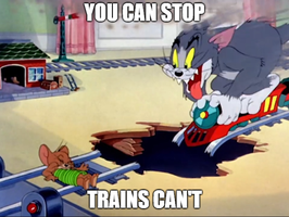 Tom and Jerry-Train Safety PSA by EarWaxKid
