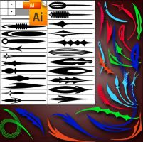 brushes for Illustrator 5 by roula33