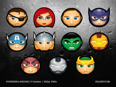 Superhero Avatars by deleket