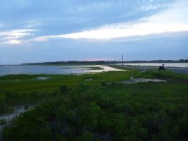 Sunset over Chincoteague by usedbooks