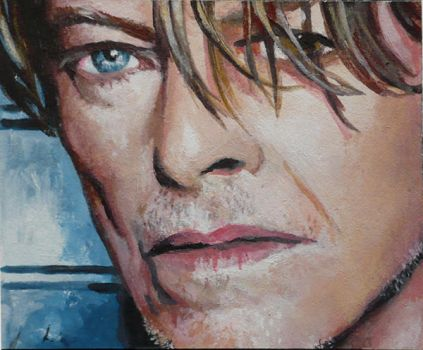David Bowie ACEO by sullen-skrewt