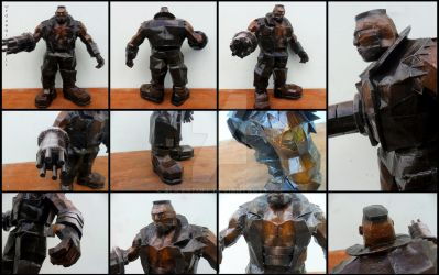 Final Fantasy 7 - Barret Wallace papercraft by alicestuff