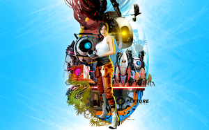 Portal 2 Wallpaper by badtrane