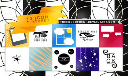 10 ICON TEXTURES PACK by TheEdgeOfDemi
