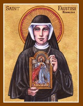 St. Faustina icon by Theophilia