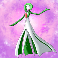 Pokecember Day 16 (Psychic Type) - Gardevoir by Bloodedskull19