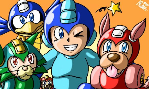 Mega Man's National Pet Day by AnotherRandomMegaMan