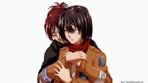 Colored 296_Hanji and Mikasa by Enara123