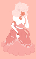Padparadscha Sapphire by JeanLouiseArt