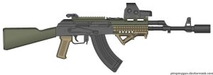 ZAC First Zombie gun AK 47 by WolfSniper727