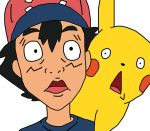 Ash And Pikachu Funny Faces (Sun And Moon) by GEORDINHO