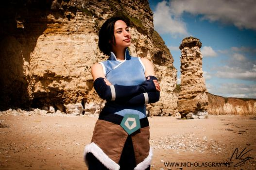 Korra Cosplay - By the beach by Divinity-bliss