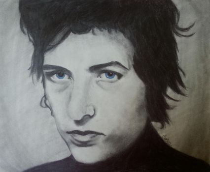 Bob Dylan-Starry Eyes by RavenBrush