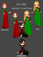 The 3 Holiday Symptoms by MobMotherScitah