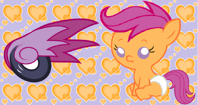 Baby scootaloo by Acuario1602