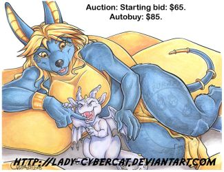 Nibbles the Dragon and Zahara  Sold. by lady-cybercat
