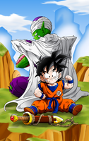 Gohan and Piccolo Training by Miguele77