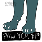 ( OPEN ) PAW YCH $1.50 by pinebones