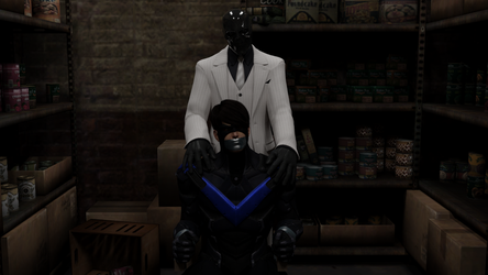Nightwing Captive by Black Mask by TheBlenderTaper